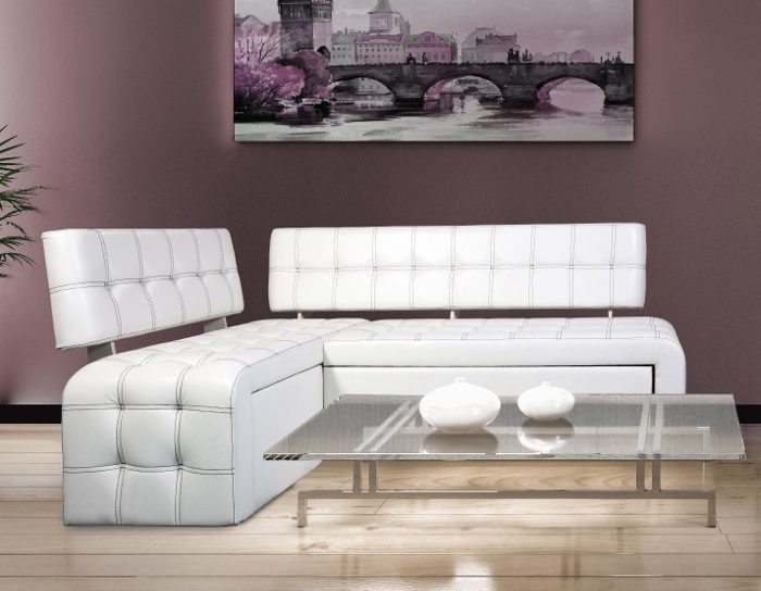 Кухонный уголок со спальным местом Прага белый