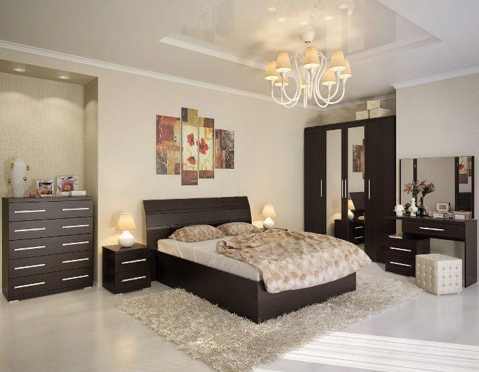 Модульная спальня Скарлет венге