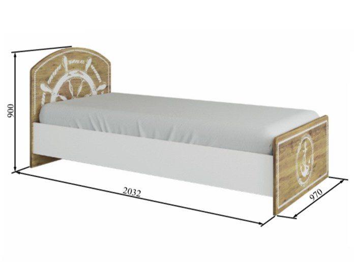 Детская кровать Юнга КРД 900.1