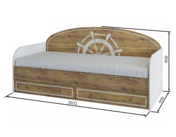Детская кровать с ящиками Юнга ДКД 2000.1