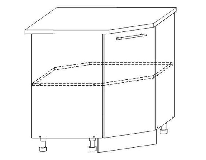 Кухонный шкаф Верона ШНУ850х850 без столешницы