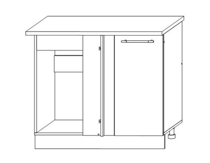 Кухонный шкаф Мокко ШНУП1000 без столешницы