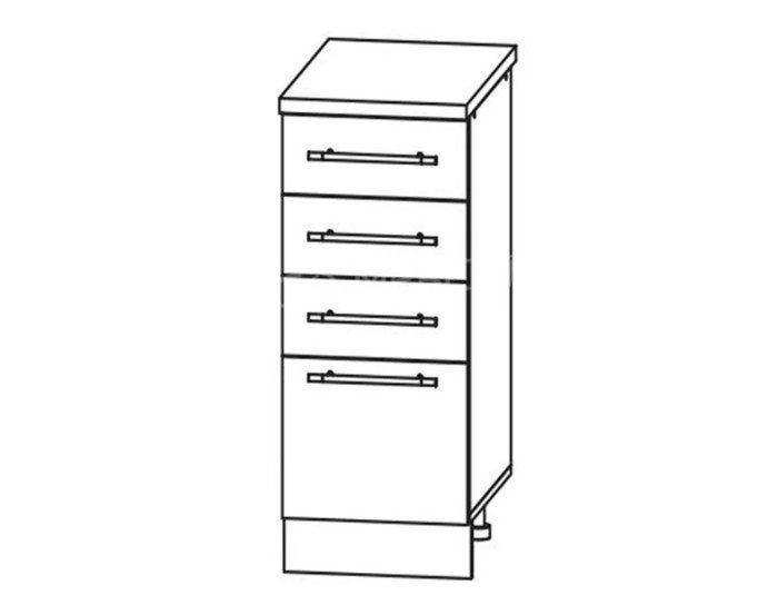 Кухонный шкаф Мокко ШНЯ300 без столешницы