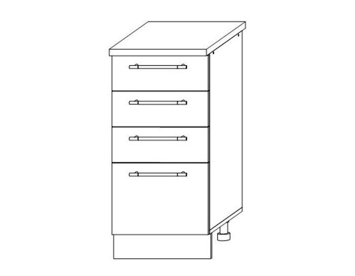 Кухонный шкаф Мокко ШНЯ400 без столешницы