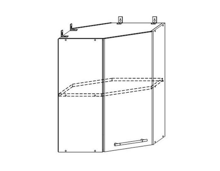 Кухонный шкаф Мокко ШВУ550х550