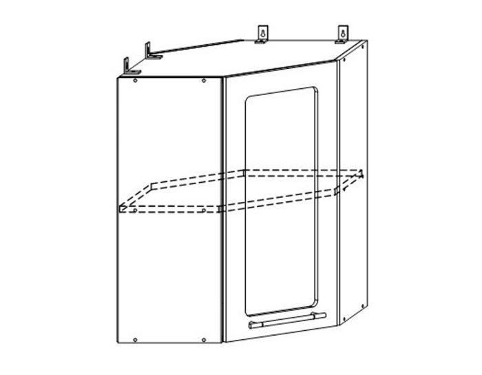 Кухонный шкаф Мокко ШВУС550х550