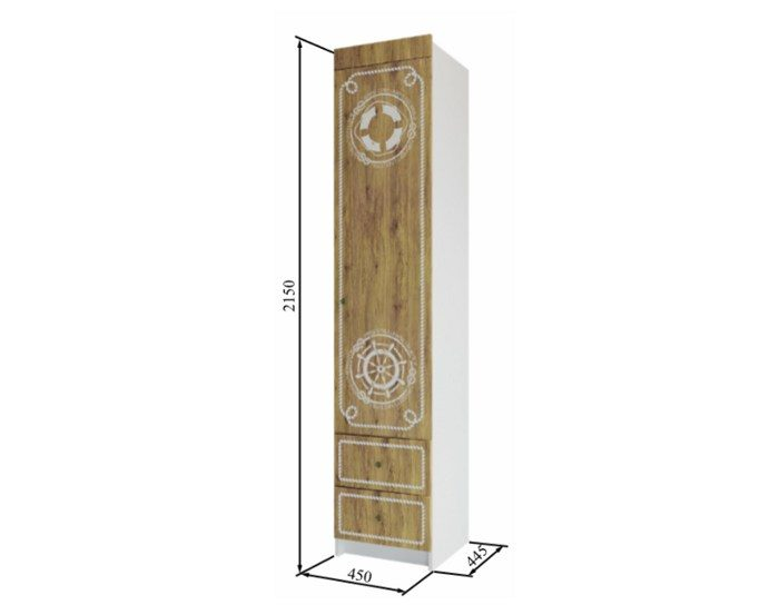 Шкаф с ящиками Юнга ШД 450.1
