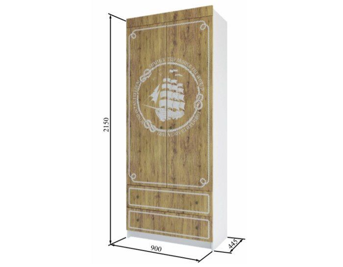 Шкаф с ящиками Юнга ШД 900.1