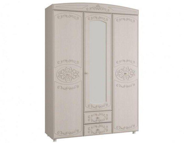 Шкаф 3-х дверный с зеркалом Каролина