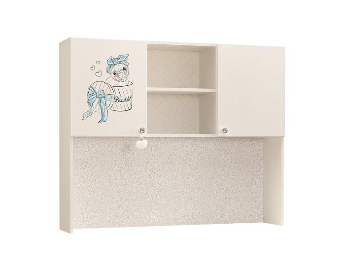 Шкаф-надстройка на детский стол Гламур