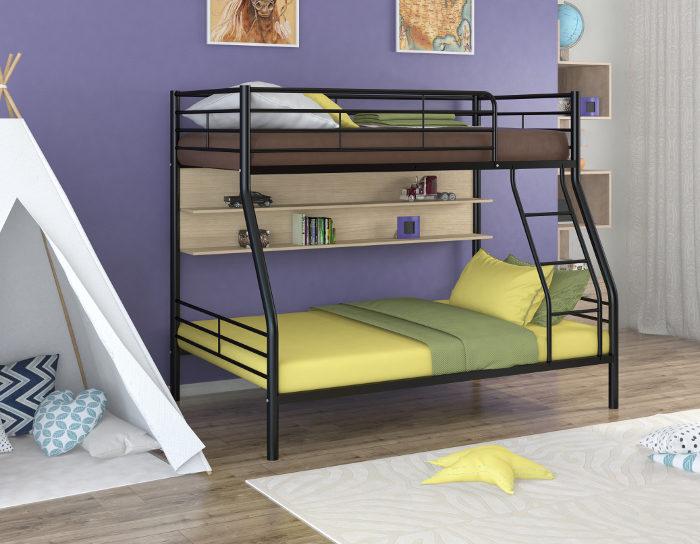 Детская кровать двухъярусная Гранада-2П на металлокаркасе
