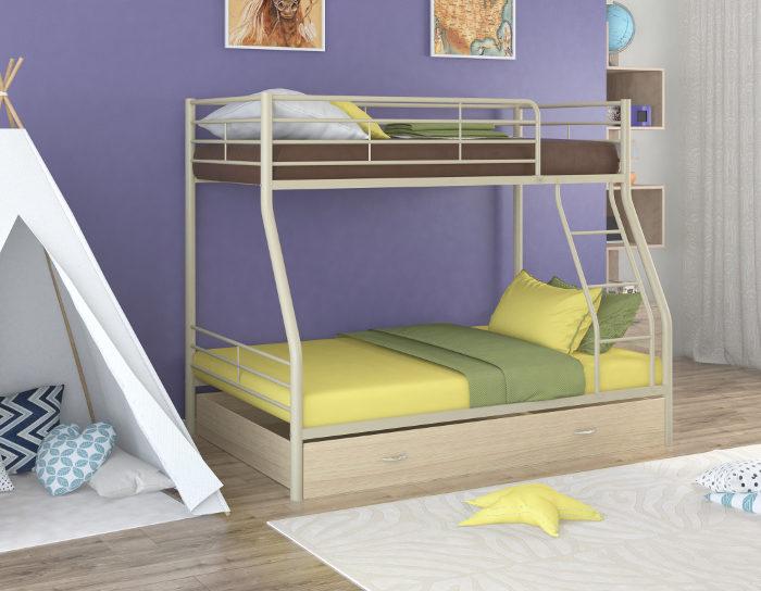 Детская кровать двухъярусная Гранада-2Я на металлокаркасе