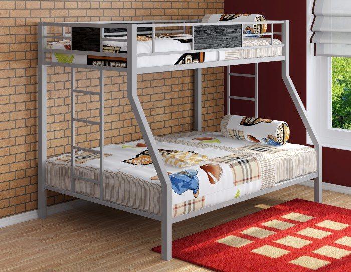 Детская кровать на металлокаркасе двухъярусная Гранада