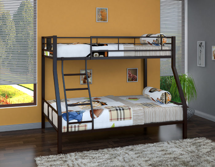 Детская кровать на металлокаркасе двухъярусная Гранада-1