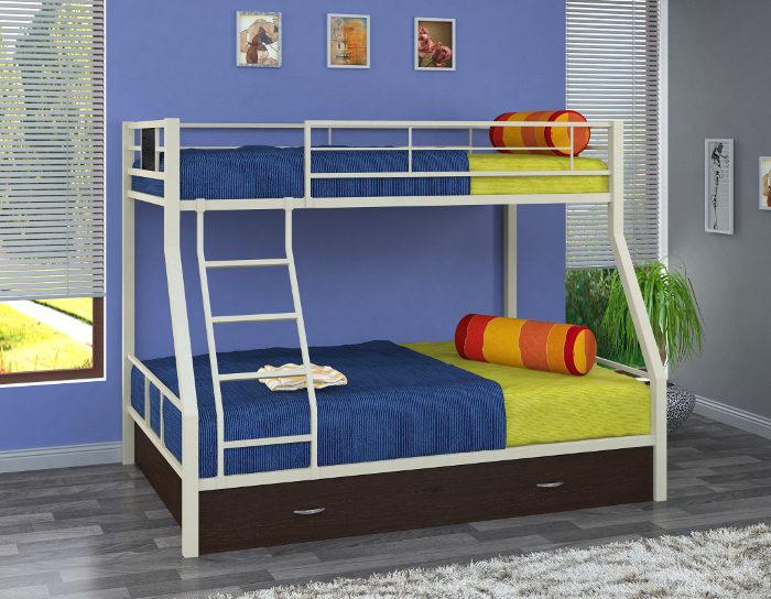 Детская кровать на металлокаркасе двухъярусная Гранада-1Я