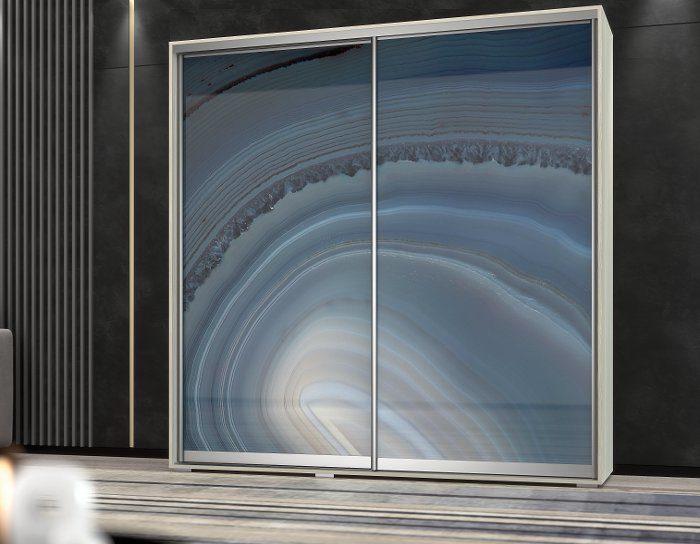Шкаф купе Арктур стекло с печатью Энигма 1,17м