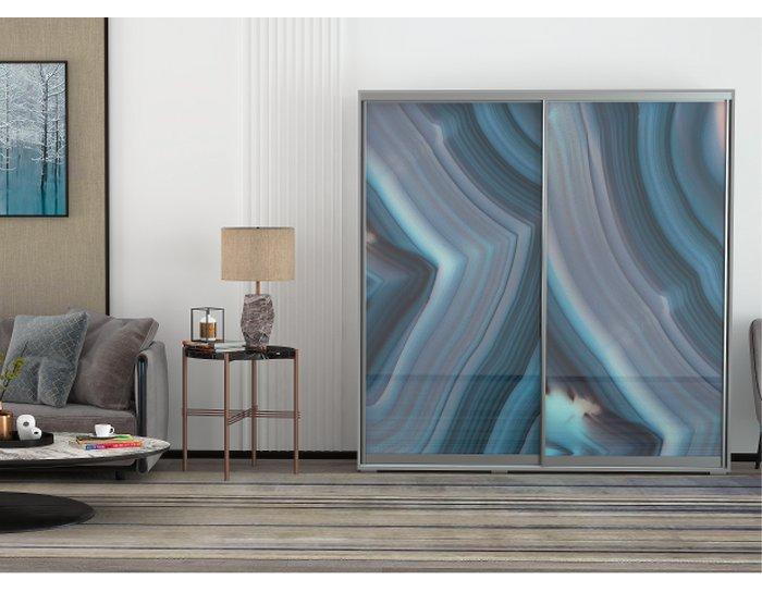Шкаф купе Арктур стекло с печатью ТАШ 1,17м