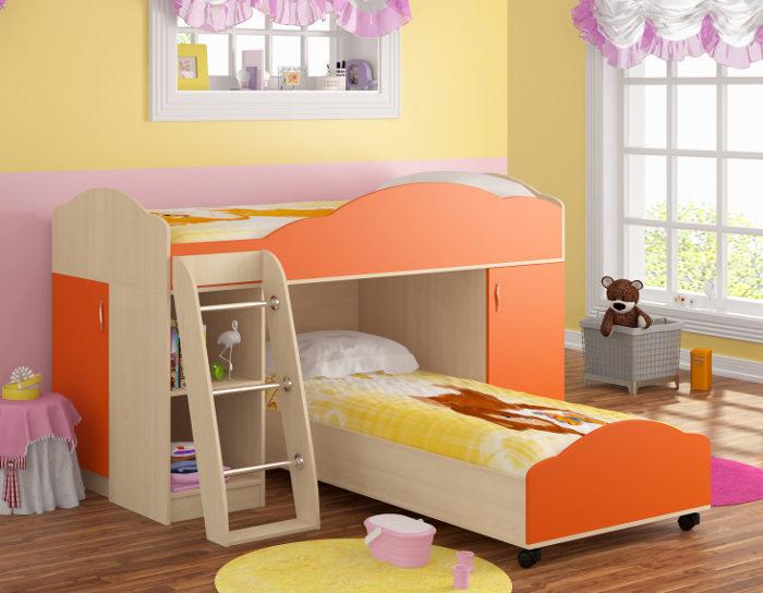 Детская кровать Дюймовочка-5.1
