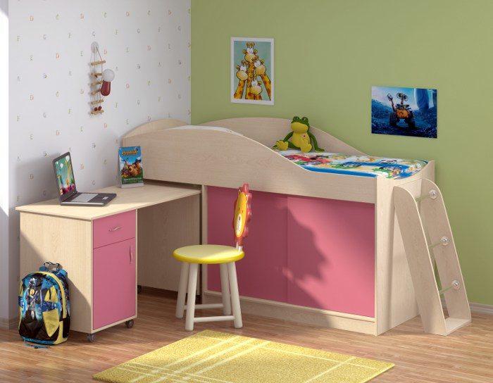 Детская кровать Дюймовочка-3+лестница Дельта 23.4