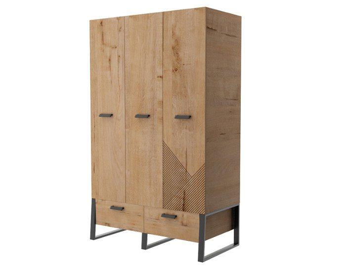 Детский шкаф Оскар 3-дверный ИД 01.368