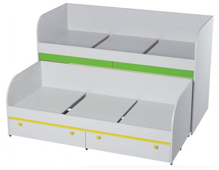 Детская кровать двухъярусная Мамба КР-6 с ящиками