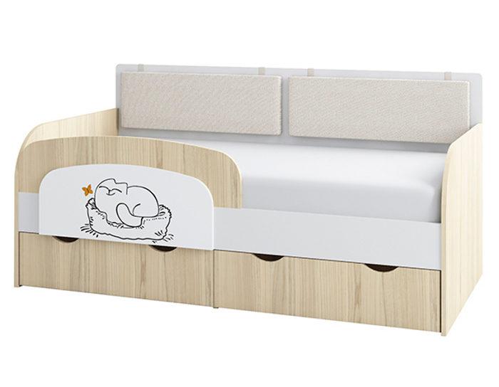 Детская кровать-тахта Кот 800.4 с основанием ЛДСП