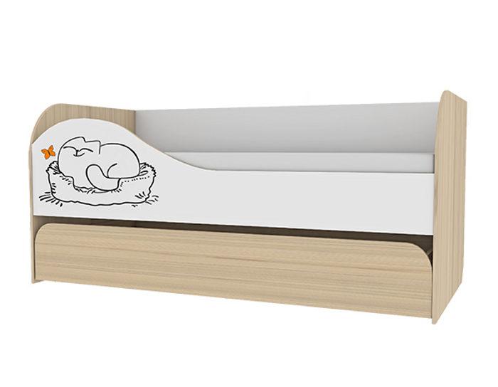 Детская двухуровневая кровать Кот 900.1 с основанием ЛДСП