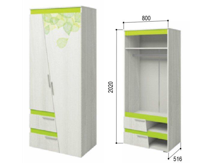 Шкаф 2-х дверный Эко 2