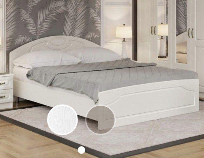 Кровать Каприз белый жемчуг 160