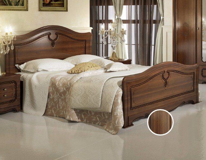 Кровать Палермо орех с патиной 160