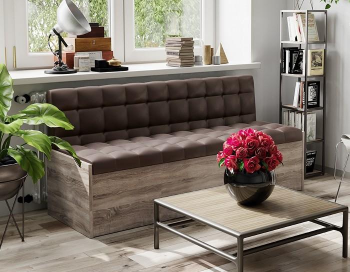 Кухонная скамья прямая Форест коричневый