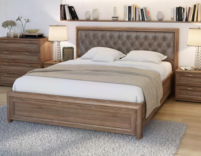 Кровать Рандеву РК1602 вариант 3 дуб оксид