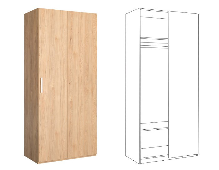 Шкаф для одежды угловой Гравити 10.75