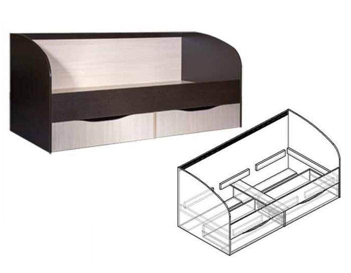 Детская кровать с ящиками Спайдер