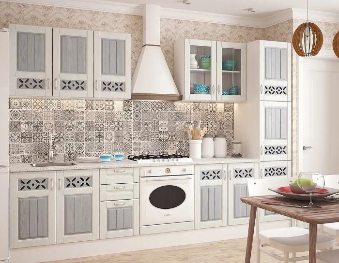 Кухонный гарнитур Камелия серый