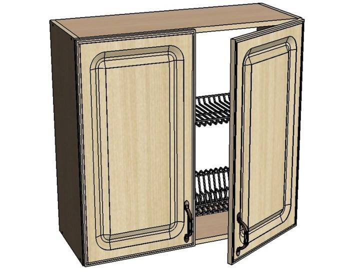 Кухонный шкаф Моника/Милана AM80 с патиной под сушку