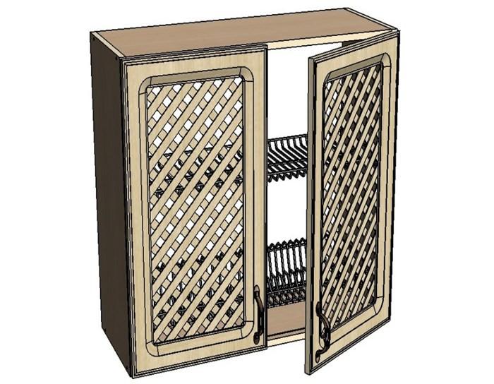 Кухонный шкаф Моника/Милана AMR60 с патиной под сушку