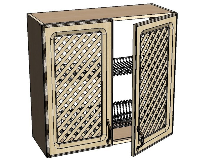 Кухонный шкаф Моника/Милана AMR80 с патиной под сушку