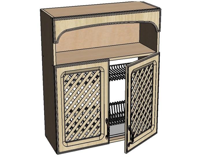 Кухонный шкаф Моника/Милана BMR60 с патиной под сушку