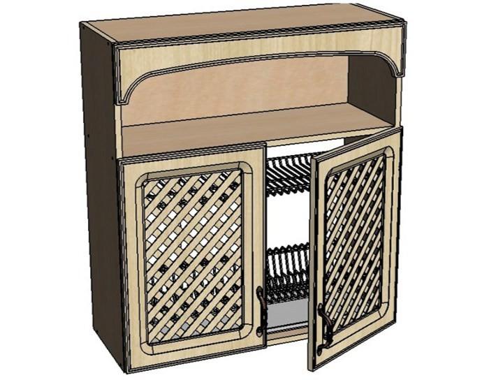 Кухонный шкаф Моника/Милана BMR80 с патиной под сушку