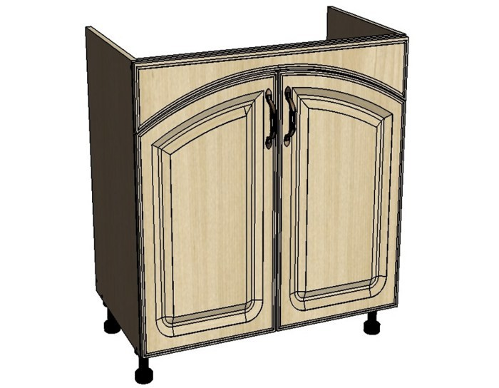 Кухонный шкаф Моника/Милана DMR60 под мойку с патиной