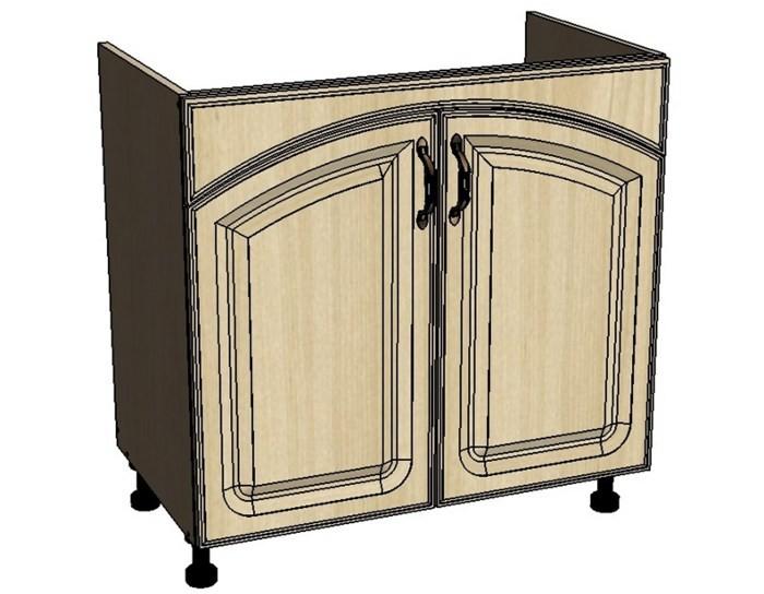 Кухонный шкаф Моника/Милана DMR80 под мойку с патиной