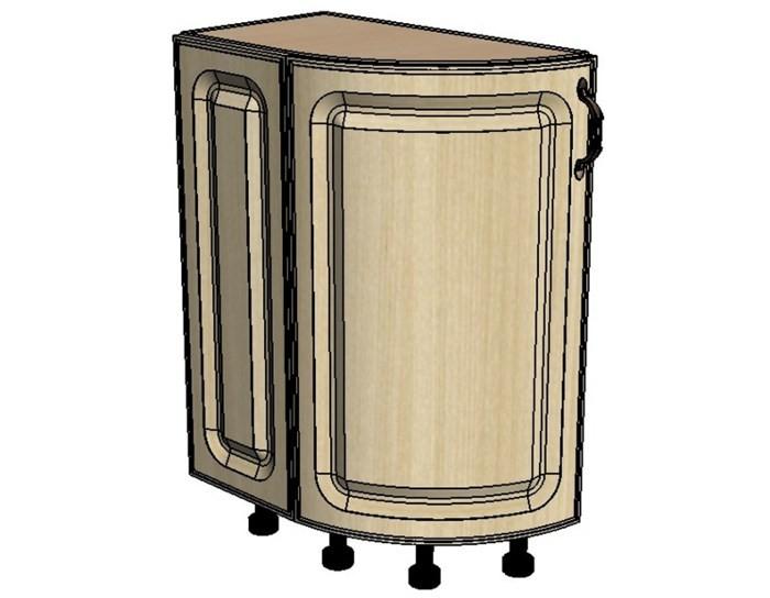 Кухонный шкаф Моника/Милана DTLR32 торцевой с патиной