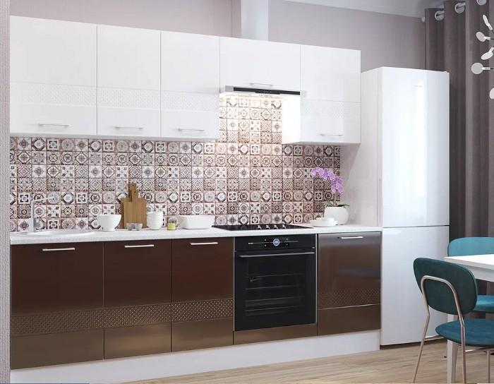 Кухонный гарнитур Люкс белый шоколад
