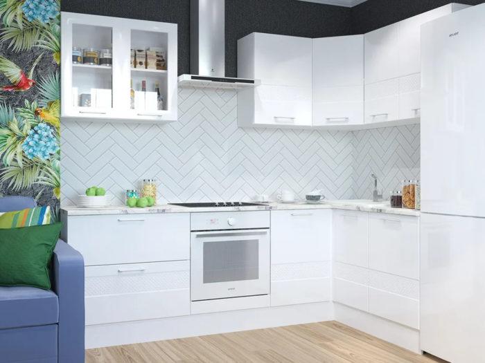 Кухонный гарнитур Люкс белый