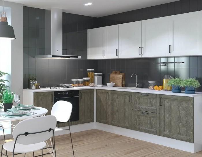 Кухонный гарнитур Винтаж дуб антик сосна белая