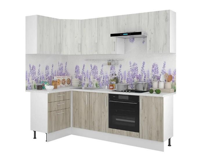 Кухонный гарнитур Европа белый серый крафт