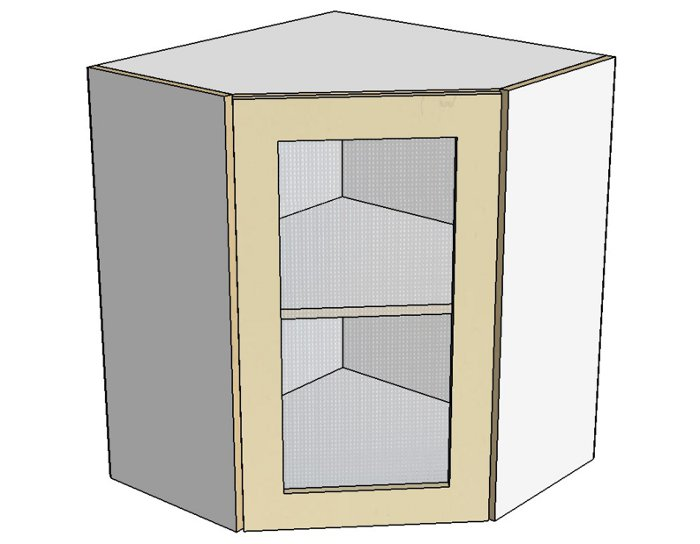 Кухонный шкаф Фиджи Лайт AUS60/60 со стеклом