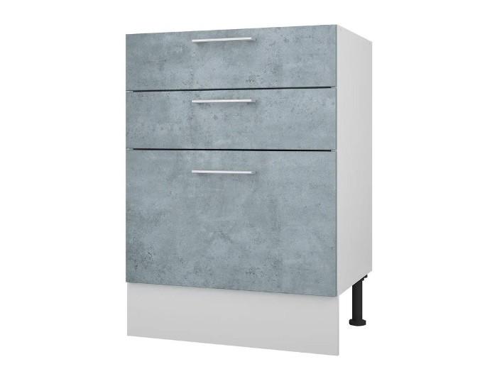 Кухонный шкаф 60 Лофт с 3 ящиками без столешницы