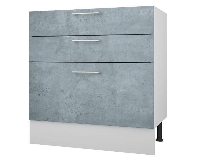 Кухонный шкаф 80 Лофт с 3 ящиками без столешницы